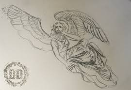 skeleton angel tattoo design dark design graphics graphic