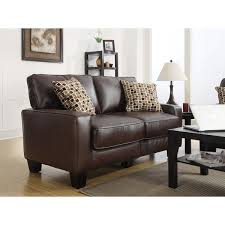 Chestnut Leather Sofa Serta Monaco Collection 77 Inch Brown Leather Sofa Free Shipping
