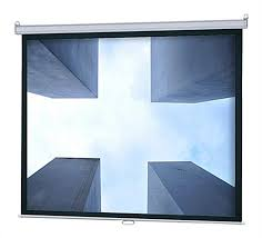 Retractable Projector Ceiling Mount by Hanging Projector Screen For Ceiling Or Wall Mount Use