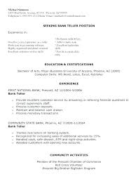 teller resume exle top bank teller resume template articlesites info