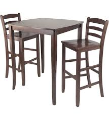 collapsible high top table beautiful bar height table set estella cherry finish wood pub