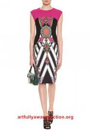 beautiful 2014 elegant geometry printed slim dress multi color