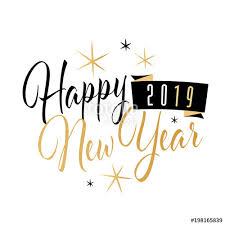 Happy New year 2019 Stock image and royaltyfree vector files on