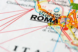 road map up up of a road map near rome italy dof stock photo