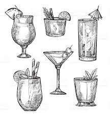 martini shaker drawing drawn cocktail sketch pencil and in color drawn cocktail sketch