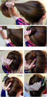 simple hairstyles with one elastic easy hairstyles for long hair afmu net