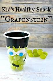 healthy halloween kid u0027s snack frankenstein grape cup healthy