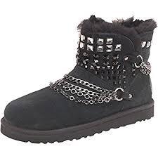 ugg womens hiking boots anvil black black silver ugg womens anvil mini boots black 8 5