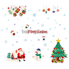 christmas decoration supply cartoon colorful merry christmas santa christmas decoration supply cartoon colorful merry christmas santa claus removable wall stickers for window and room