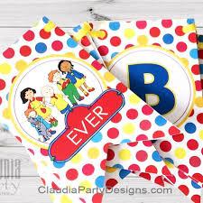 caillou party supplies caillou birthday banner caillou birthday party party designs