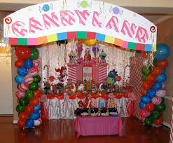 interior design cool candy themed birthday party decorations