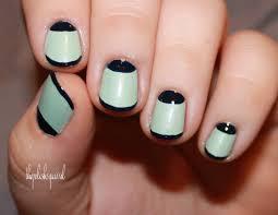 maroon half moon nail design idea