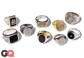 rings with initials signet rings are back we pinkie swear photos gq