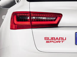 subaru red 1 x subaru sticker for windshield or back window red indecals com