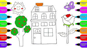 how to draw coloring pages villa house coloring book drawing
