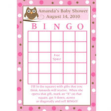baby shower bingo game free printable image collections baby