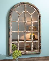 arched window mirror acacia something like this above the