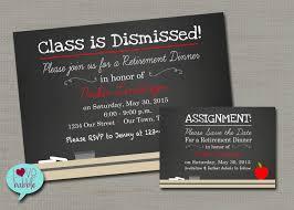 chalkboard teacher retirement party invitation save