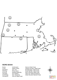 Map Of Massachusetts by Massachusetts Map Worksheet Coloring Page Free Printable