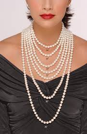 length pearl necklace images Pearls at every length dripping in pearls pinterest pearls jpg