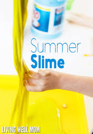 easy homemade summer slime in less than 5 minutes