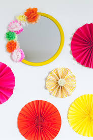 Make Flower With Paper - diy crepe paper flower mirror decor diy mexican fiesta mirror with