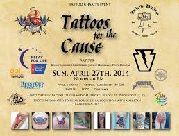 tattoos for the cause charity event april 27th 2014 at into the