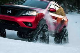 jeep snow tracks nissan tames snow with winter warrior track trucks video