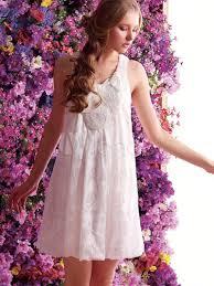 beautiful white sleeveless cotton silk night dress for woman