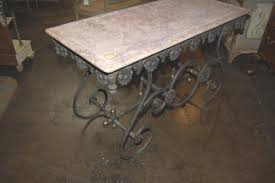 antique french butcher table antique french wrought iron butcher s table w marble top latique