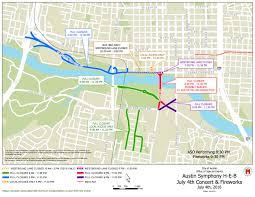City Of Austin Map by This Austin July 4th Fireworks Street Closures Map Might Come In
