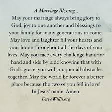 blessings for weddings a marriage blessing