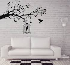 vinyl decal animals and birds wall stickers caged bird tree branch vinyl decal animals and birds wall stickers caged bird tree branch let free