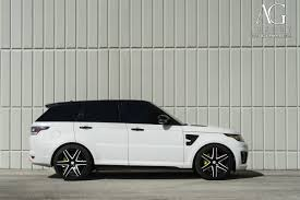 land rover white black rims ag luxury wheels range rover sport svr forged wheels