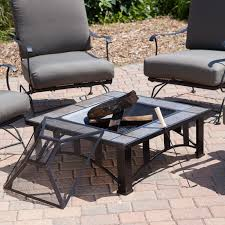 Garden Treasures Patio Chairs Exterior Wrought Iron Patio Furniture With Gray Cushions And