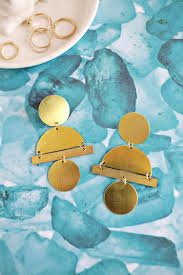 ear ring images geometric gold statement earring diy a beautiful mess