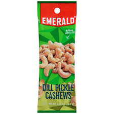 pickle candy emerald nuts dill pickle cashews 12ct 1 25oz the candy city