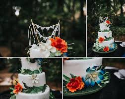 Tropical Themed Wedding Cakes - elegant and romantic sunken gardens wedding st pete wedding