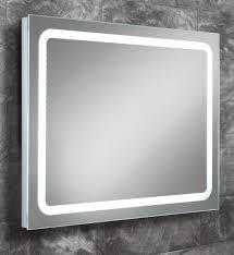 hib scarlet steam free led back lit mirror 800 x 600mm 77410000