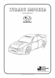 subaru impreza coloring cool coloring pages