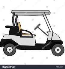 golf cart cartoon vector illustration empty golf cart stock vector 178688258