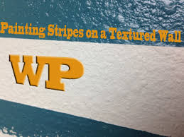 diy minute how to paint stripes on a textured wall youtube