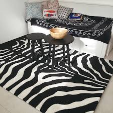 Black Living Room Rugs Aliexpress Com Buy Black White Zebra Carpet Big Living Room