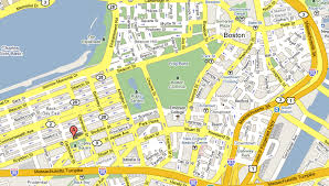 boston city map streets maps boston maps