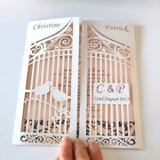 Personal Wedding Invitation Cards Personalized Wedding Invitation Card Love Birds On The Gate
