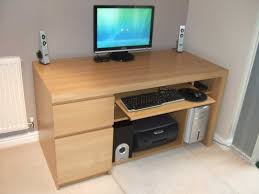 Computer Desk For Two Monitors Tips Incredible Wooden Gaming Desk For Your Having Fun