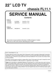 magnavox 22me601b service manual