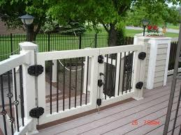 deck railing gate deck design and ideas