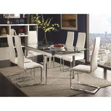 modern grey metal and wood square dining room table industrial