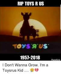 Meme Toys - rip toys r us 1957 2018 shecief photogrid i don t wanna grow i m a